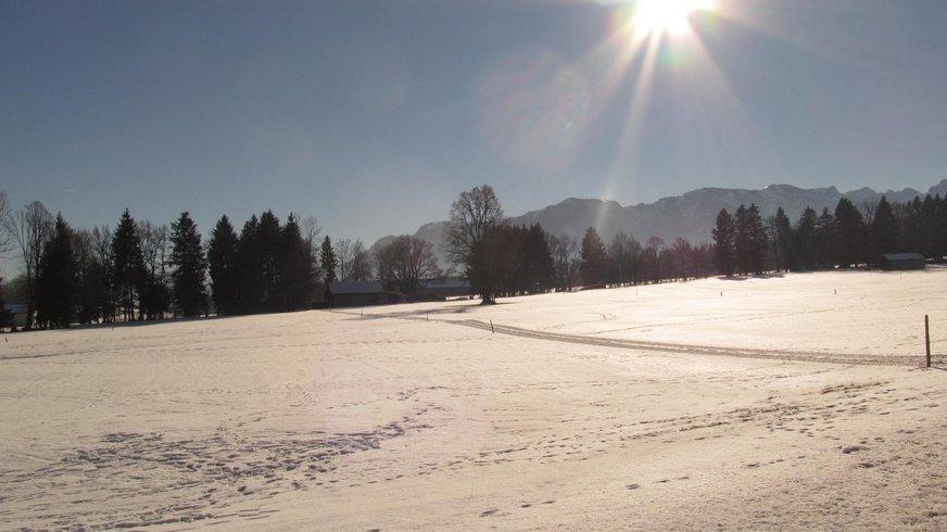 Winterlandschaft bei Bad Tölz
