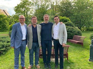 Präsidiumsmitglieder der GPA-djp Salzburg und ver.di Bezirk Rosenheim